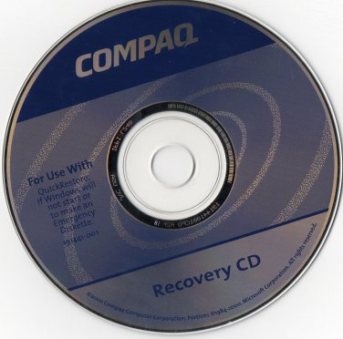 ( USED ) Compaq Part No. 191441-001 Recovery CD
