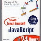 ( USED ) SAMS Teach Yourself JavaScript in 24 Hours