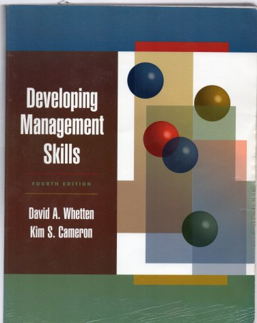 ( USED ) David Whetten & Kim Cameron : Developing Management Skills, Fourth Edition