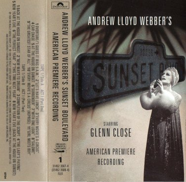 ( USED ) Andrew Lloyd Webber's Sunset Boulevard ( Set of 2 Cassettes )