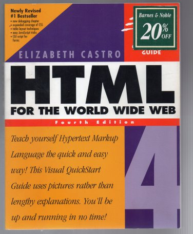( USED ) Visual Learning Guide : Elizabeth Castro - HTML for the World Wide Web