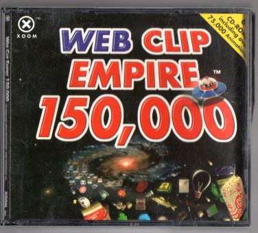 ( USED ) XOOM Web Clip Empire 150,000 ( Set of 6 CD-ROMs )