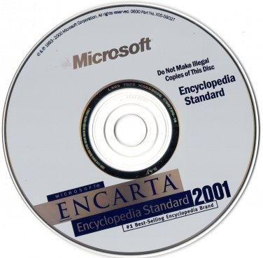 ( USED ) Microsoft Encarta Encyclopedia Standard 2001 + Encarta Encyclopedia 98 ( PC CD-ROM )