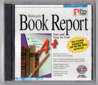 ( NEW Shrink Wrapped ) Pro One Multimedia Book Report ( PC CD-ROM )