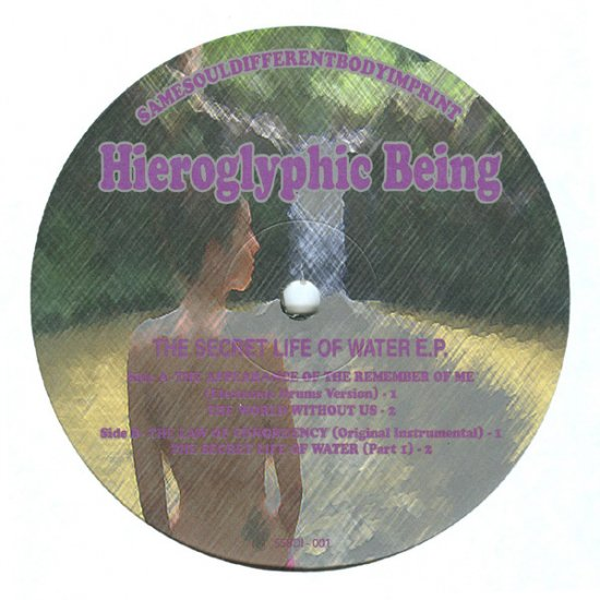 "SSDBI001 - Hieroglyphic Being - Secret Life Of Water EP (12"") SAME SOUL DIFFERENT BODY"