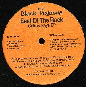 "BP02 - East Of The Rock - Galaxy Rays EP (12"") *BLACK PEGASUS"