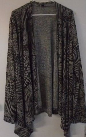 WOMEN'S COVER UP Jacket Cardigan Occasion Black Grey Gold Shimmer PLUS 2X Animal