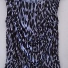 WOMEN'S Blouse Top Work Career Black Grey Size Small Sleeveless Worthington