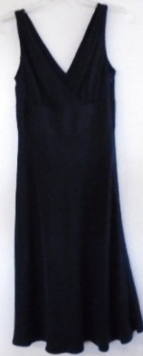 Women's SILK Black Dress J. CREW Size 2 V-Neck Special Occasion Sleeveless