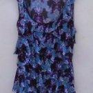 EXPRESS JR'S Women's SPRING Blouse Top Black Blue Purple Small Paisley Ruffles