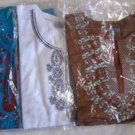 KURTA KURTI Women's Blouse Top Indian Pakistani Brown Blue White XL XXL NIP