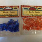 BUGLE BEADS FOR YOUR CRAFTS EMBROIDERY JEWELRY MAKING RED AND BLUE 4 MM 2 PACKS