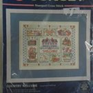 "SUNSET STAMPED CROSS STITCH Kit Country Welcome 14"" x 11"" Without Mat NIP"
