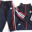 NEW BALANCE Baby Boy Outfit Sweat Pants Jacket Track 12 Months Black White EUC