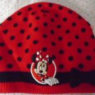 MINNIE MOUSE HAT Beanie GIRL'S 100% AUTHENTIC DISNEY Red Black Dots Knit Youth