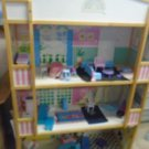 "DOLL HOUSE Huge 3 Stories 57"" x 38"" x 14.5"" Sturdy Wood Barbie ORLANDO PICK UP"