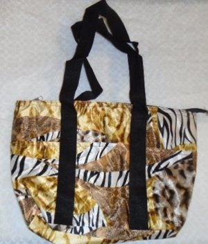ANIMAL PRINT LUNCH BAG Zebra Leopard White Gold Insulated Ships From USA  NWOT