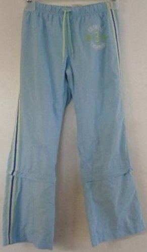 GIRLS BLUE SPORT PANTS SOCCER SIDE STRIPES SIZE SMALL OLD NAVY ZIPPERS ON LEGS