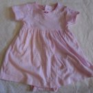 BABY GIRL'S Dress Attached Panties Pink White Stripes CARTER'S 6 Months Short Sl