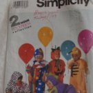SIMPLICITY COSTUME PATTERN 7475 BABY TODDLER 1/2-4 CLOWN PUMPKIN ANIMAL HALLOWEE