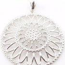 STERLING SILVER Daisy Floral Flower PENDANT Milor Italy 925 Fantastic Gift