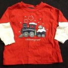 BABY BOY INFANT CHRISTMAS T-SHIRT TOP LONG SLEEVES 3 MONTHS LITTLE ENGINEER RED