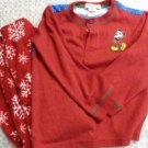 BOY GIRL PAJAMA SET HOUSE OF MICKEY MOUSE DISNEY XS 4 WARM COZY CHRISTMAS WINTER