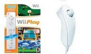 NINTENDO WII GIFTS BUNDLE - 9 GAMES AND NUNCHUK/...