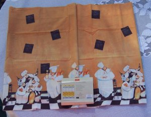 ITALIAN french Fat Chef VALANCE kitchen window curtain home decor