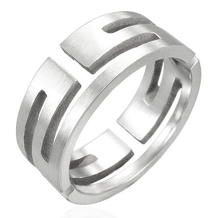 MAZE Stainless Steel Ring - Size 9