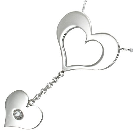 HEARTS Stainless Steel CZ Pendant
