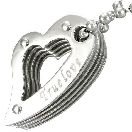 TRUE LOVE Stainless Steel Pendant