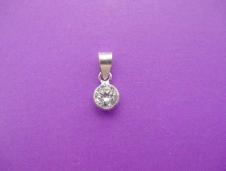 DAINTY CRYSTAL Sterling Silver Pendant + FREE CHAIN