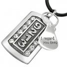 Cool Dog Tag Necklace - CAN LID MESSAGE