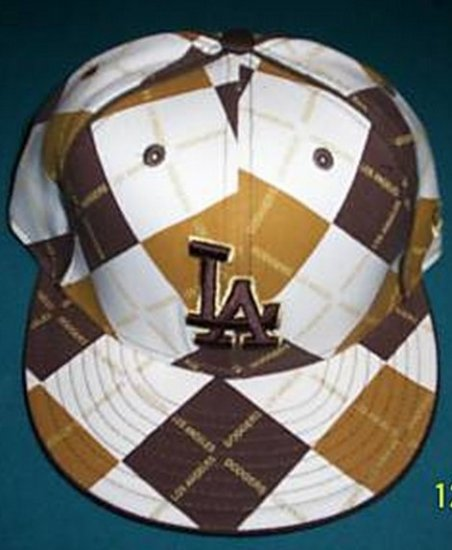 """New Era 59Fifty Fitted Cap Brown, Tan, White Los Angelos """"LA"""" 7"""
