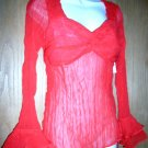 Red Clubbing Top L/S Sz M