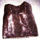 Brown Sequin Tube Clubbing Top Sz Sm