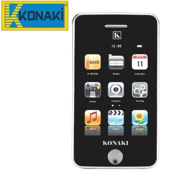 KONAKI DIGITAL TOUCH PERSONAL MEDIA PLAYER WITH CAMERA retails for $299.95