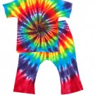 Custom Tie Dye Baby Hippie 2PC Short Sleeve T-Shirt Pants Newborn Infant Toddler Cotton Tiedye