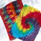 Tie Dye Cloth Diaper Burp Cloths Set of 2