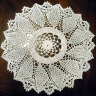 Any Color Oriental Jade 15 Inch Round Cotton Crochet Doily Yellow Blue White Pink Beige Purple