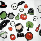 Set of 27 Halloween No Sew Iron On Appliques Vampire Mummy Owl Skull Ghost Pumpkin