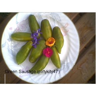 GREEN SAUSAGE TOMATO SEEDS (20)