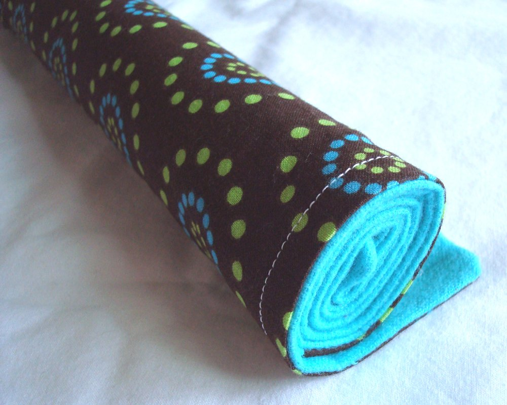Burp Cloth Teal and Brown
