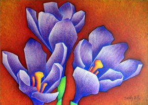 Crocus Painting - Original