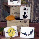 Halloween Cards ( set of 4 )