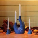 The Windrift Candle Set -  Blue-Green Glaze