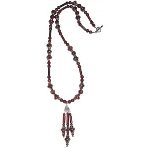 Brecciated Jasper & Sterling Silver Necklace