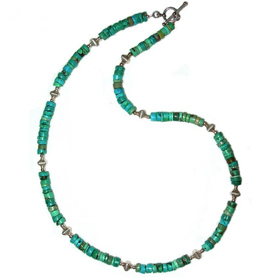 Turquoise & Sterling Silver Choker: