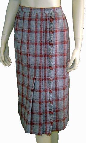 70s Lilli Ann for Adolph Shumann Faux Wrap Skirt